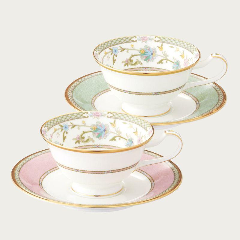 【ノリタケ】≪ヨシノ≫ティー・コーヒー碗皿ペアセット(色変り)ペア碗皿 内祝い お返し 出産内祝い 結婚お祝い 結婚内祝い 母の日 父の日 誕生日プレゼント コーヒーペアセット