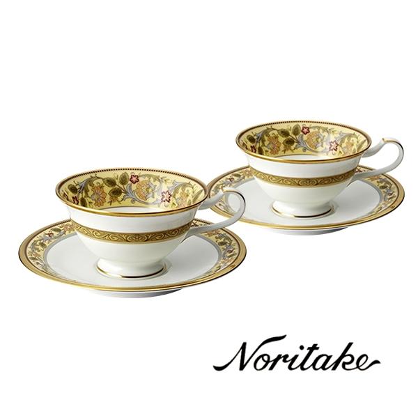 【ノリタケ】≪アカンサス≫ティー・コーヒー碗皿ペアセットペア碗皿 内祝い お返し 出産内祝い 結婚お祝い 結婚内祝い 母の日 父の日 誕生日プレゼント コーヒーペアセット
