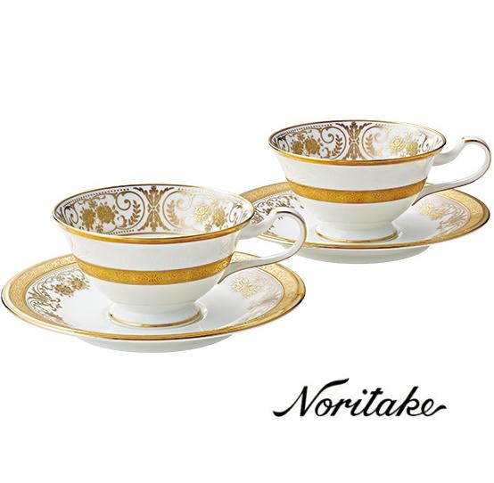 【ノリタケ】≪ジョージアンパレス ≫ティー・コーヒー碗皿ペアセットペア碗皿 内祝い お返し 出産内祝い 結婚お祝い 結婚内祝い 母の日 父の日 誕生日プレゼント コーヒーペアセット