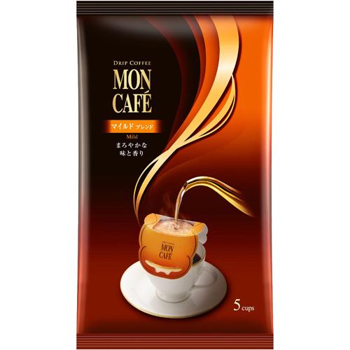 モンカフェ 5袋入×48個 マイルドブレンド 【送料無料(一部地域を除く)】  ドリップコーヒー
