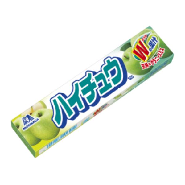 (本州一部送料無料) 森永 ハイチュウ グリーンアップル (12×12)144入 (ケース販売) 【ラッキーシール対応】