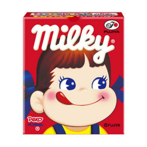 ミルクのコクが加わった濃厚な味わい、後味のスッキリなおいしさ!本州・四国・九州は送料無料! 北海道・沖縄は配送不可です。 (本州送料無料) 不二家 7粒 ミルキー箱 (10×3)30入