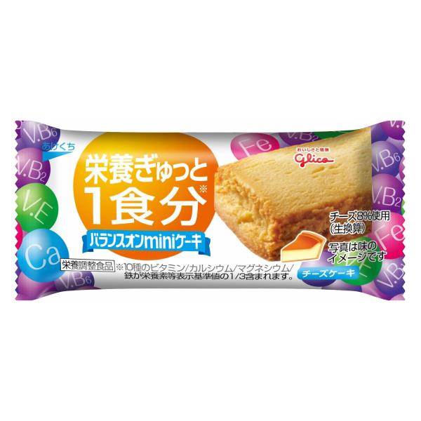 (本州送料無料) 江崎グリコ バランスオンminiケーキ チーズケーキ (20×24)480入 (Y12)(2ケース販売)