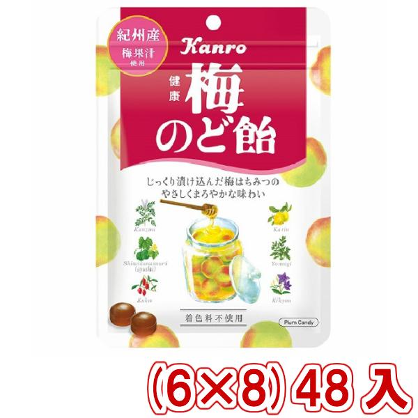 (本州送料無料) カンロ 健康梅のど飴 90g (6×8)48入 (Y10)