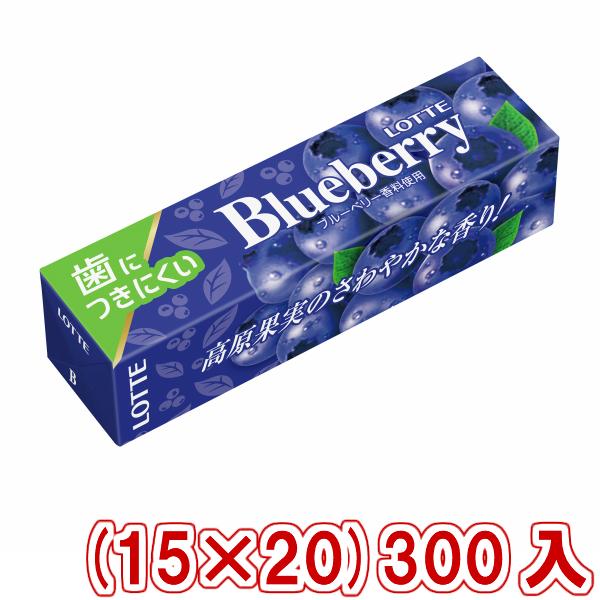 (本州送料無料) ロッテ 歯につきにくい ブルーベリーガム (15×20)300入 (ケース販売)