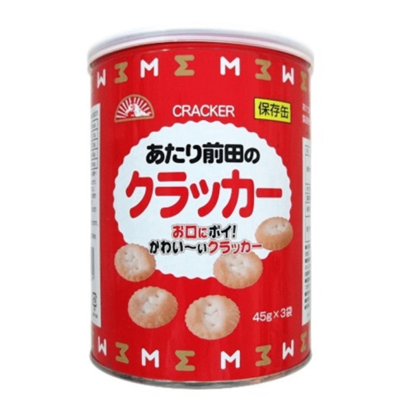 (本州送料無料) 前田製菓 保存缶 あたり前田のクラッカー(プルニエ)(15×2)30入 (Y14)(2ケース販売)