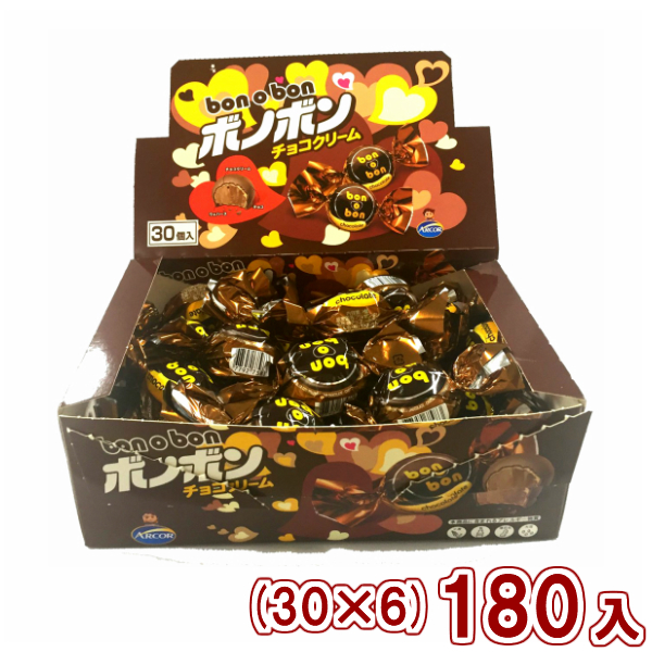 (本州一部送料無料) やおきん 1個ボノボンチョコクリーム (30×6)180入 (Y80)【ラッキーシール対応】