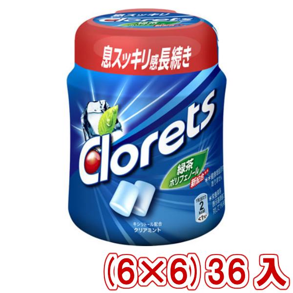 (本州送料無料)モンデリーズジャパン クロレッツXPクリアミント(粒)ボトル (6×6)36入 (Y10)(ケース販売)