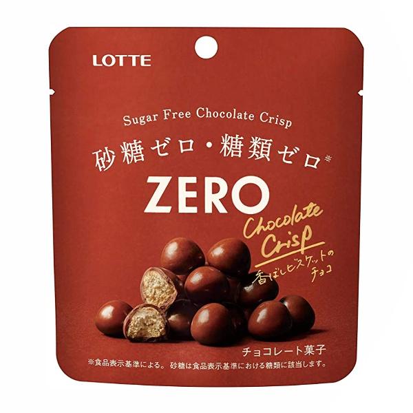 シュガーフリーチョコレート10×18まで1個口の送料でお送り出来ます 2020新作 ロッテ ゼロ 新品 シュガーフリーチョコレートクリスプ 10入