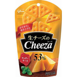 (本州送料無料) 江崎グリコ 生チーズのチーザ チェダーチーズ (10×8)80入 (ケース販売) 【ラッキーシール対応】