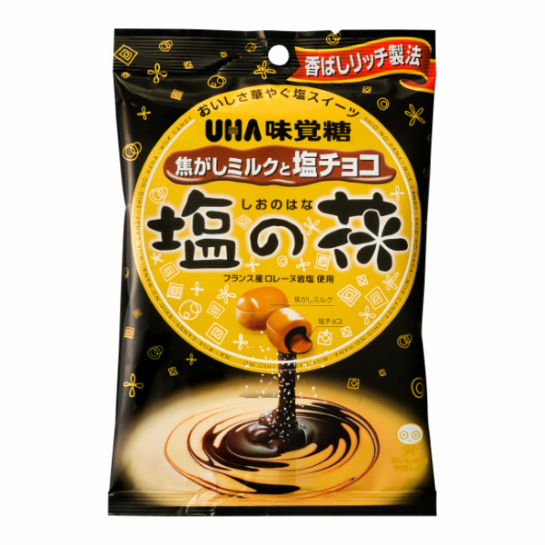 (本州送料無料) 味覚糖 塩の花 焦がしミルクと塩チョコ (6×12)72入 (Y12)