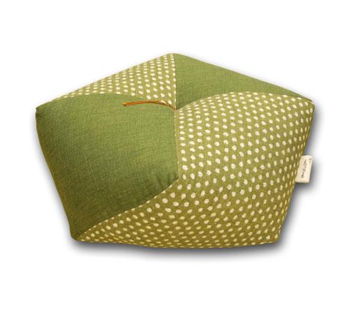 新築祝いの贈り物に 正座でもあぐらでも楽に座れる おじゃみ座布団 あられ緑 送料無料でお届けします 人気商品
