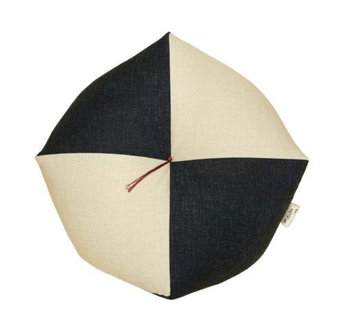 おじゃみ座布団 鳥の子×御納戸 Mサイズ 洛中高岡屋 直径約40cm 綿 日本製