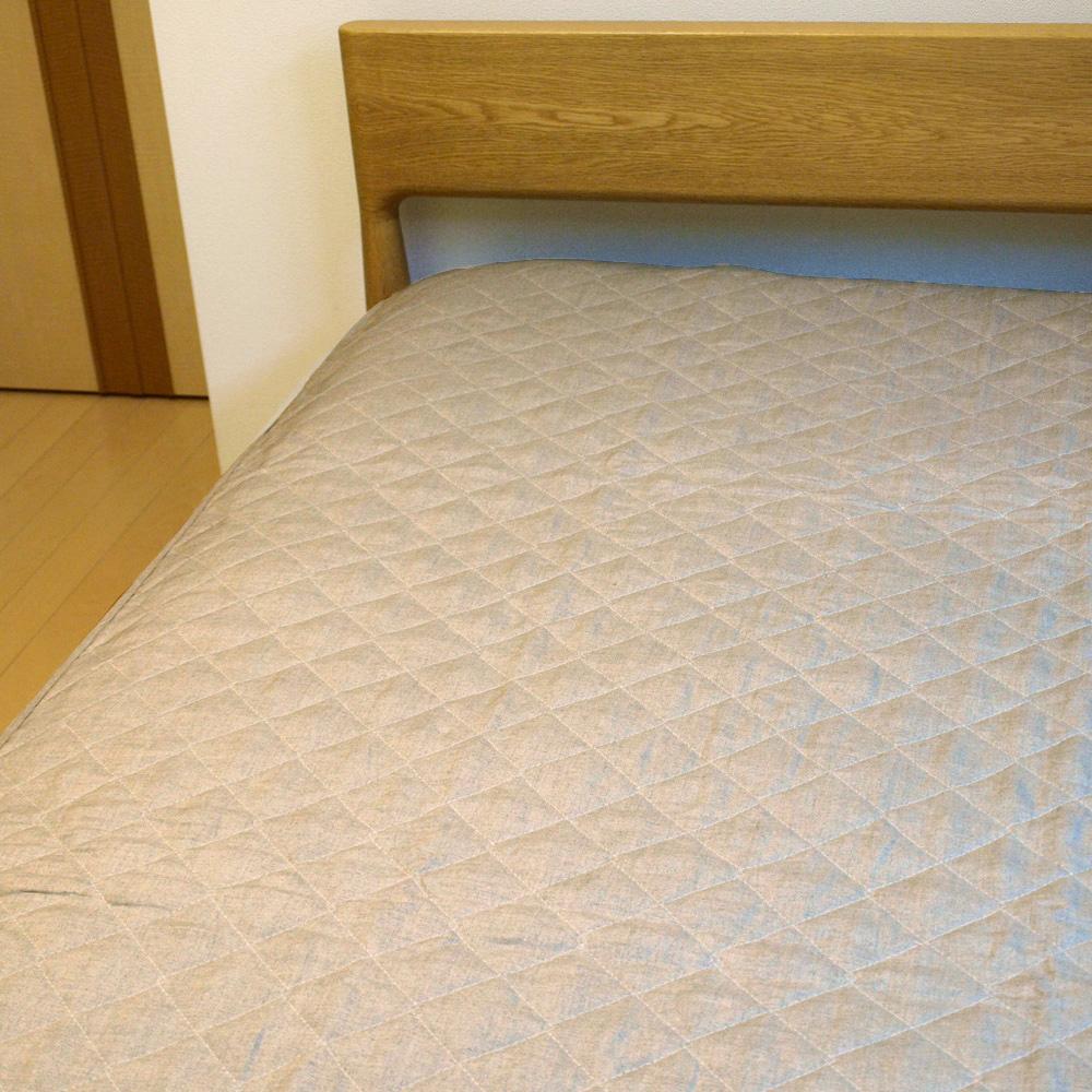 麻敷きパッド 100×205cm シングルサイズ 天然素材 接触冷感 中綿麻100% 【日本製】