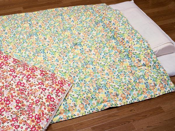 プチフラワー 八分の五夏布団 約120×160cm 夏ふとん うす掛布団 肌ふとん 職人の手作り 京都 洛中高岡屋 日本製