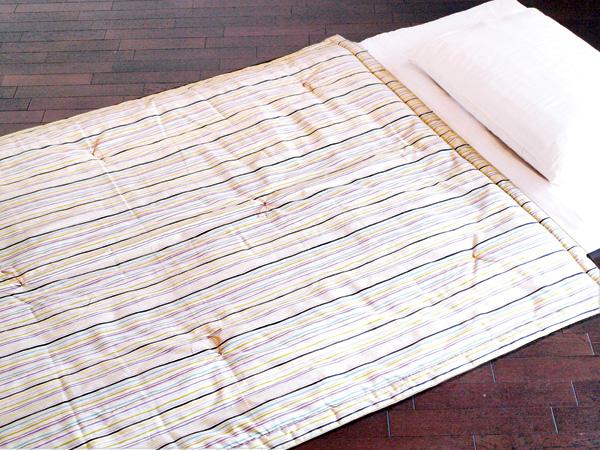 滝縞 八分の五夏布団 約120×160cm 夏ふとん うす掛布団 肌ふとん 職人の手作り 京都 洛中高岡屋 日本製