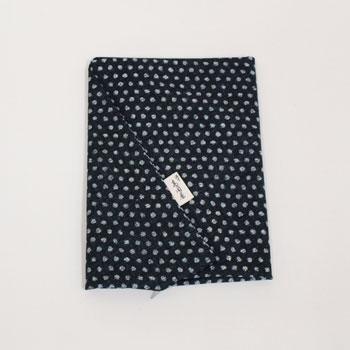 ファスナーを横ではなく後ろにつけました 座布団カバー 綿 あられ黒銘仙判サイズ 正規店 迅速な対応で商品をお届け致します 55×59cm