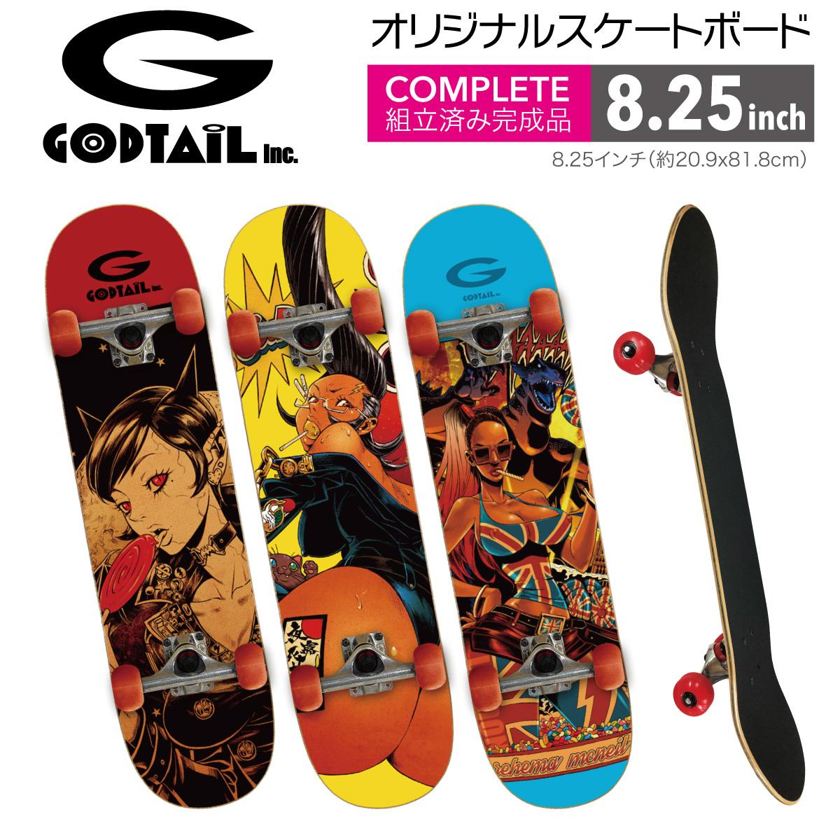 スケートボード スケボー コンプリート セット デッキ 初心者 上級者 おすすめ GODTAIL 129-sb01-2