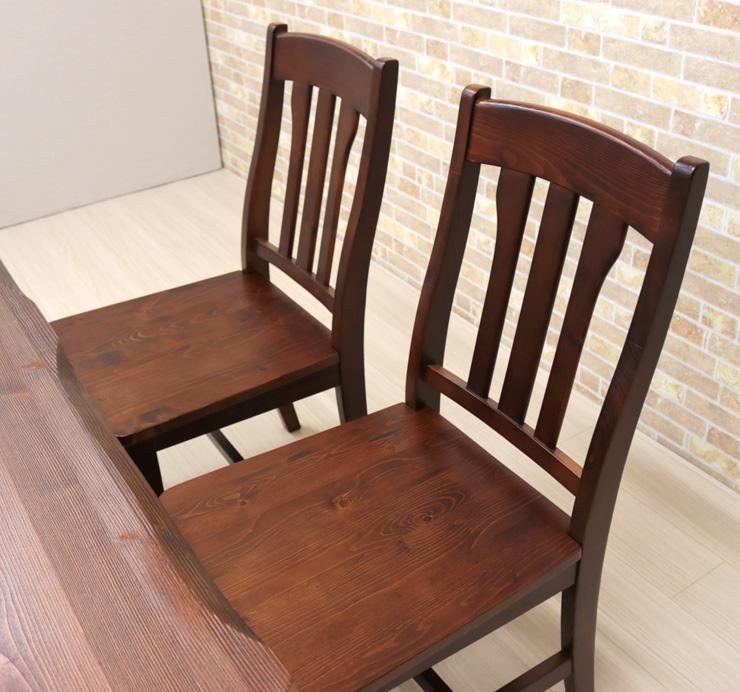 ダイニングテーブルセットカントリー北欧パイン材5点セット135cm4人掛pet135-5-368brイス4ブラウン茶色ダイニングテーブルセット机チェア椅子イス板座なぐり加工うづくり仕上げ浮作りうずくり木製天然木アウトレットm8031s-4k