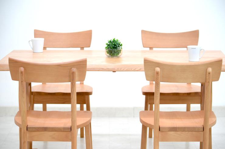 ダイニングテーブルセット 5点 北欧 幅 140cm hida-351 ナチュラル 椅子 4脚 ダイニングテーブル 5点セット ダイニングセット 4人用 4人掛け 木製 天然木 アッシュ材 板座チェア