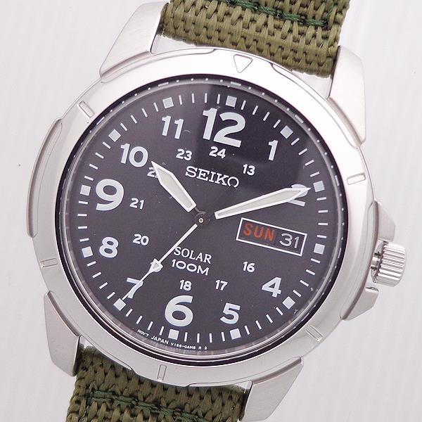 SEIKO SNE095P2 逆輸入 セイコー ソーラー メンズ 腕時計 ナイロンベルト ウォッチ SEIKO SOLAR 10ATM DIVERS DayDate WATCH ブラック BLACK