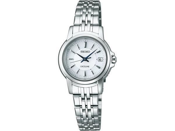 SEIKO[セイコー]EXCELINE エクセリーヌ Ladie'sソーラー電波腕時計/ホワイト[SWCW011]