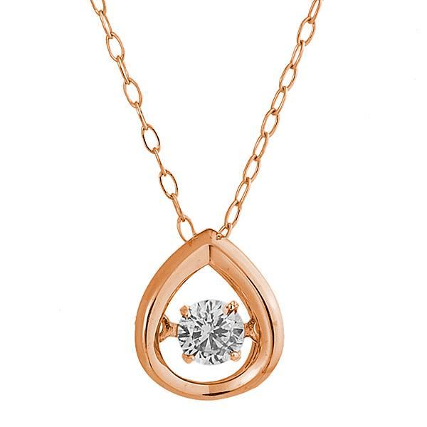 ペンダント ネックレス GP0428D-PGクロスフォー ダイヤモンド ダンシング ストーン ペンダント 日本製 K18PGCrossfor Diamond Dancing Stone pendant necklace贈り物 プレゼント 感謝 愛情 証しに