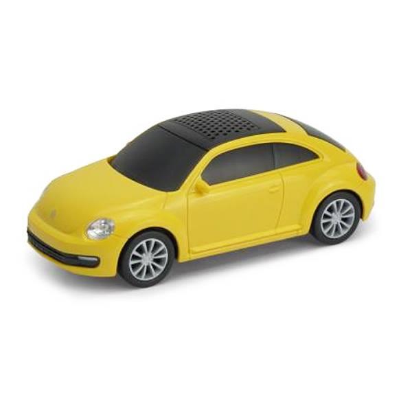 スピーカー ブルートゥース ビートル フォルクスワーゲン ミニカー 車 インテリア 音楽 オシャレ ポータブル 送料無料限定セール中 くるま クルマ 自動車 ☆新作入荷☆新品 オートスピーカー イエロー リビング 659520 車型 Bluetooth Yellow ザ リアル Beetle The Volkswagen かわいい オフィス