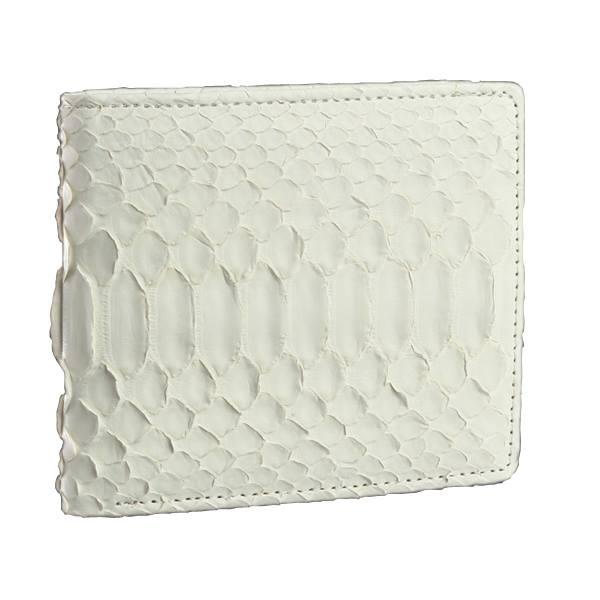【送料無料】白蛇二つ折れ財布/61235