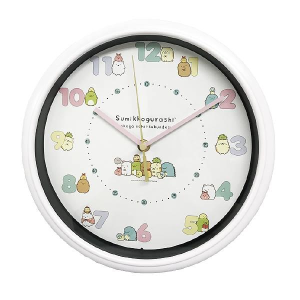 すみっコぐらしコレクション すみっこぐらし グッズ 掛け時計 時計 壁掛け時計 すみっこ サンエックス しろくま ぺんぎん とんかつ ねこ 初売り とかげ えびふらいのしっぽ 国際ブランド ここがおちつくんです 連続秒針 gurashi キャラクター時計 sumikko 無し キャラクター ホワイト スイープ秒針 ぺんぎん? WC18082SXSG-CR カチカチ音 すみっコぐらし 掛時計