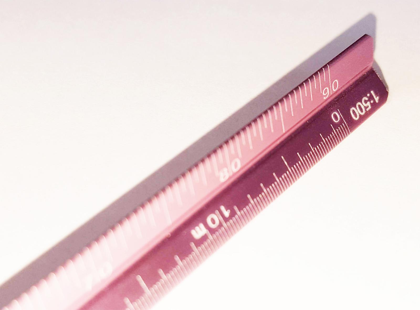 送料無料 アルミ 三角スケール 予約販売品 15cm 三スケ 全店販売中 薄ピンク色 1 300 200 500 100 建築士 400 600
