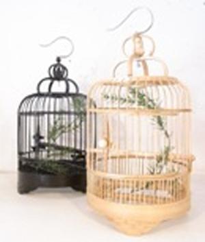 Bamboo bird cage NO: 5 small birdcage interior