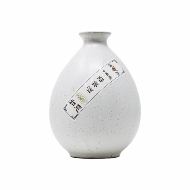 煌鼎牌 陳年十年紹興酒15度(如意壺)250ml/白壺/甕/陳年10年 中国紹興酒