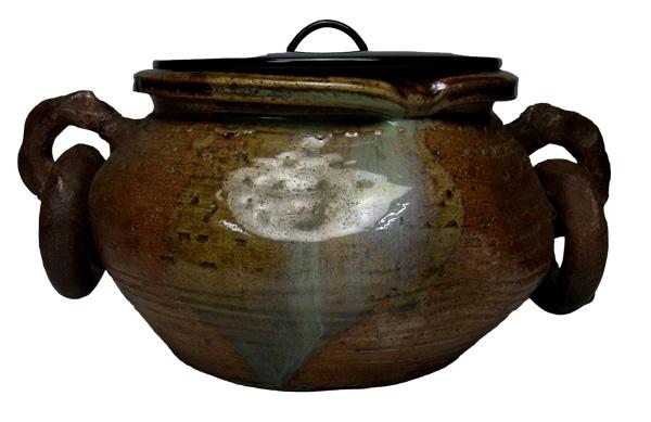 大遊鐶耳付上野焼時代の上野、無印「茶道具・水指」
