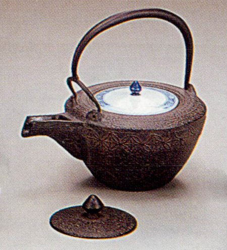 【茶器・茶道具/釜】銚子 七宝紋銚子(替蓋付)_102