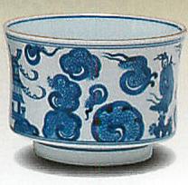 染付雲堂 景徳鎮 王懐英作(茶道具・火入)