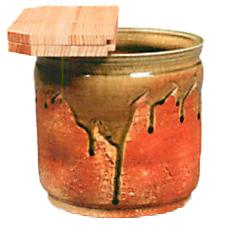 茶道具・水屋瓶(水瓶) 信楽 西尾香舟 杉割蓋付