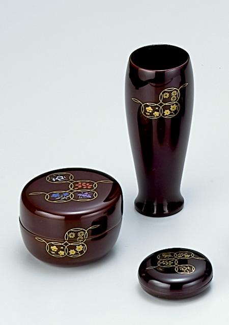 【茶器・茶道具/茶箱】茶箱道具三点セット 七宝