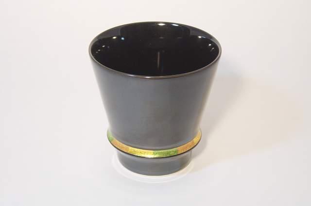 有田焼 匠の蔵 至高の焼酎グラス 黒 中古 安全 ハッピーリング