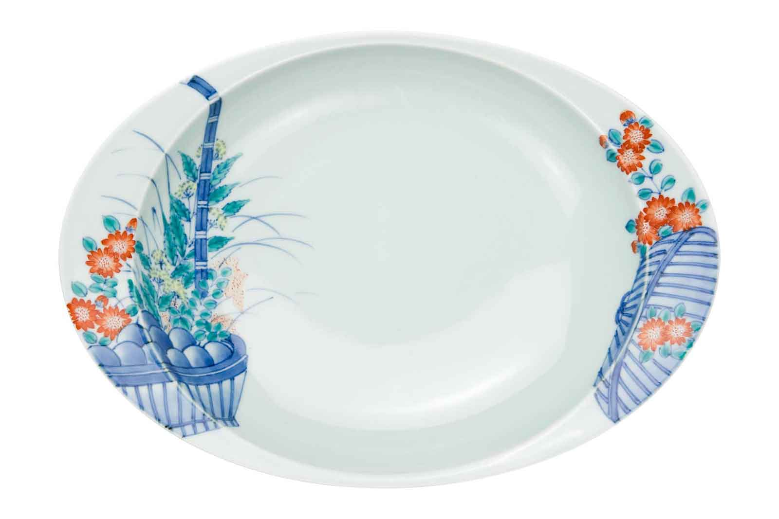 「極上のカレー皿」 花篭(大)カレー皿