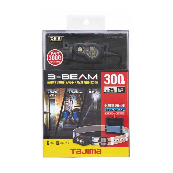 タジマ ペタ ヘッドライト E301 ブラック LE-E301-BK【LED ヘッドライト】【TAJIMA】【あす楽】〇