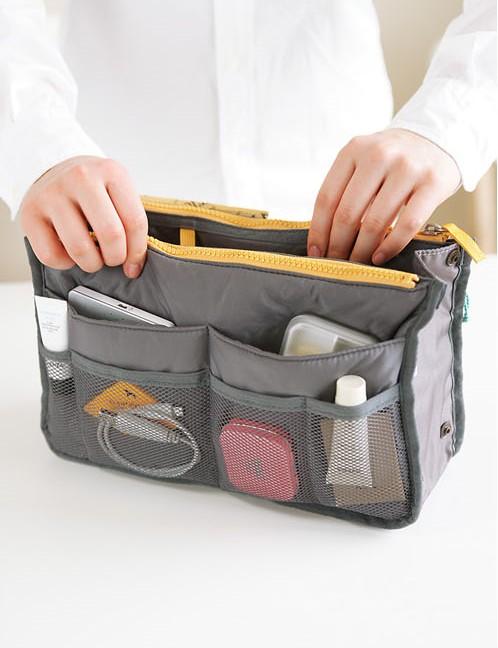 インナーバッグ バッグ コスメポーチ 男女兼用 BAG IN BAG 全12色 バッグインバッグ 旅行 化粧品 収納たっぷり