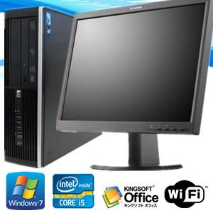 中古パソコン ポイント10倍【22型大画面液晶セット】【新品1TB】【新品メモリ8GB】【Office 2013】【無線付】【Win 7 Pro 64bit】HP 8100 Elite SFF Core i5 3.2GHz/美品中古パソコン【中古】