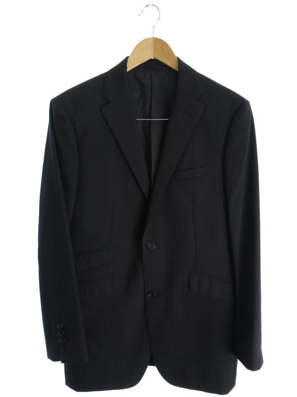BURBERRY BLACK LABELsuper100's上下セット バーバリーブラックレーベル ストライプ柄スーツ size38L メンズ セットアップ 1週間保証b02f h09ABY7bfg6y