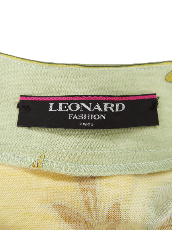 Leonardトップス レオナール 長袖ノーカラ―シャツ sizeLL レディース 1週間保証b01f h21AB4L3A5jqSRc