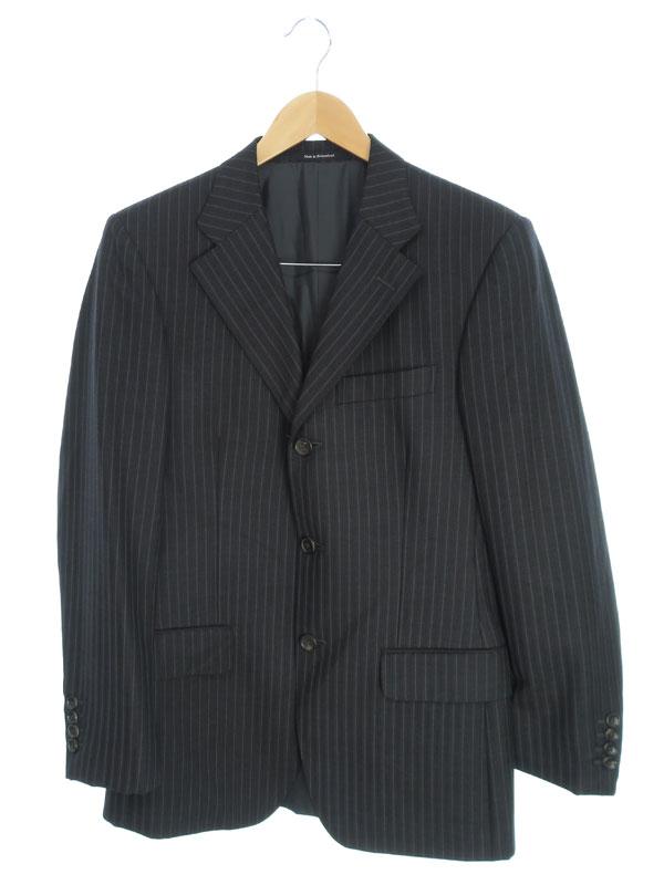 【GUCCI】【上下セット】グッチ『ストライプ柄スーツ size46C』メンズ セットアップ 1週間保証【中古】b03f/h05AB