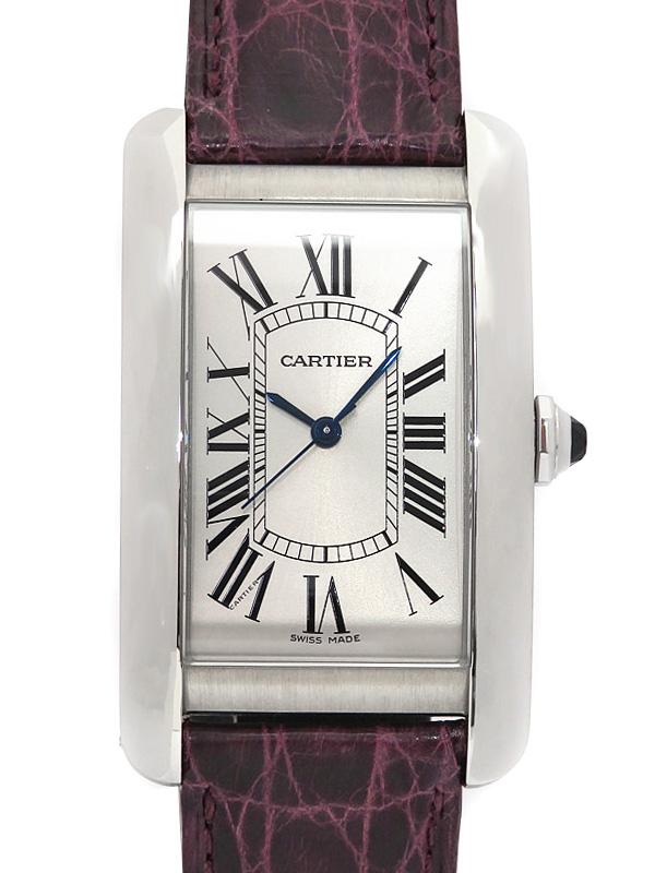 b03w/ 【中古】 【Cartier】 6ヶ月保証 WSTA0018 h21A カルティエ メンズ 自動巻き 【'17年購入】 『タンクアメリカンLM』