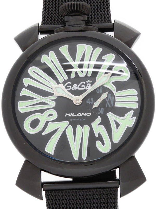 上品な 【GaGa MILANO】ガガミラノ『マヌアーレスリム 46mm』5082.2 メンズ クォーツ 1週間保証【】b03w/h20AB, 光町 bcc3fb0f