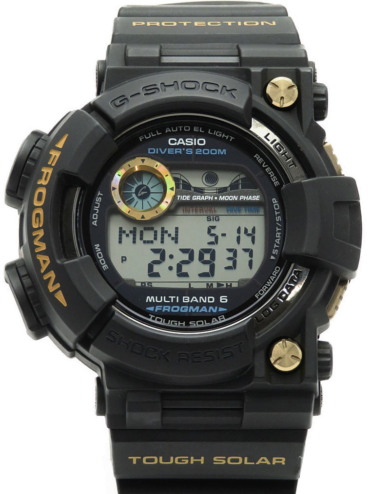 【CASIO】【G-SHOCK】カシオ『Gショック フロッグマン』GWF-1000G-1JR メンズ ソーラー電波クォーツ 1ヶ月保証【中古】b05w/h10A