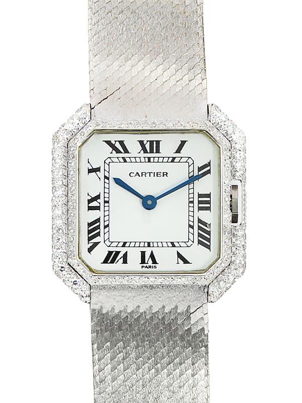 【Cartier】【'18年メーカーコンプリートサービス済】【WG】カルティエ『サンチュールLM』レディース 手巻き 3ヶ月保証【中古】b02w/h10AB